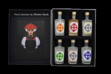 Liquid Emotions Black Forest Gin 6er Edition 0,05 l